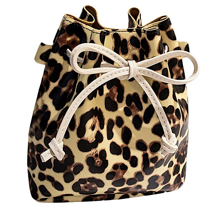 koadong shop Fashion Women s Leopard-Print Shoulder Bag Messenger Bag  Bucket Bag bba2e274a916c