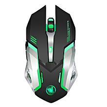 M10 Gaming Wireless Mouse 2400 DPI Rechargeable 7 color 6 Backlight Breathing Ergonomic Mouse for Computer Desktop Laptop
