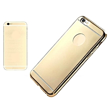 Matte Plating Clear Rubber Soft TPU Cover Case For iPhone6 plus /6s plus GD-Gold