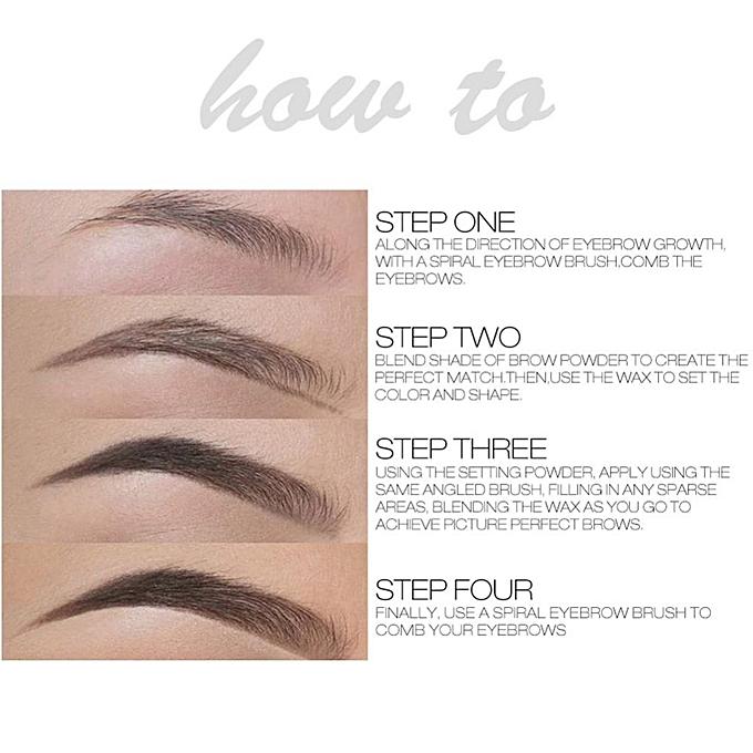 ... 1PC Eyebrow Powder Waterproof Brow Makeup With Brush(#2) ...