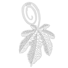 Exquisite Mini Metal Silver Stainless Steel Hollow Bookmark Series Stationery Maple Leaf