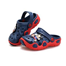 Kid's Crocs  - Navy Blue and Red