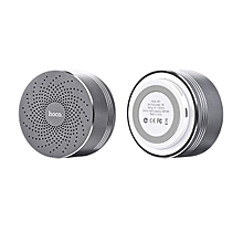HOCO BS5 Swirl Wireless Speaker Support Hands-free Mic / TF Card / Aux-in-Grey JY-M