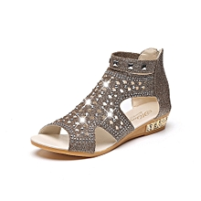 Spring Summer Ladies Women Wedge Sandals Fashion Fish Mouth Hollow Roma Shoes