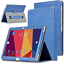 PU Leather Case Folding Stand Cover For 10.1 Inch Cube T10 Plus Free Young X7 Cube T12 Tablet Blue
