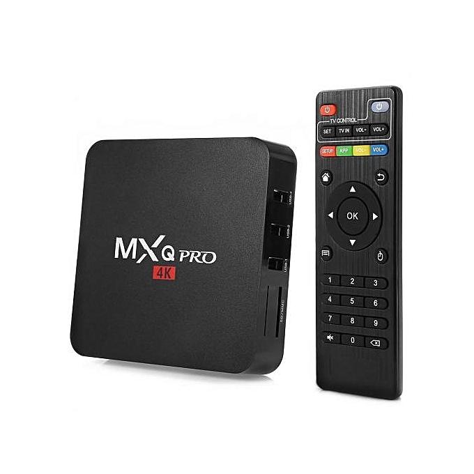 Pro Smart 4K Android TV Box + Wireless Back Lit Mini Keyboard - Black