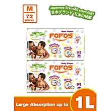 Medium Size 3 (6-9kgs) 36 Diapers (Count 72)