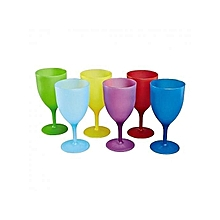 Ultimate 6 Pieces - Colourful Reusable Plastic Cups .