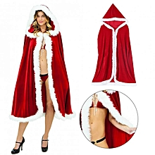 Christmas Halloween Red Hooded Long Wicca Cape Cloak Cosplay Costume 120cm