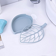 Leaf-shaped double-drain soap box dish