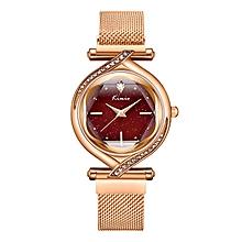 New Luxury Ladies Magnetic Bracelet Watch K6322M - Gold