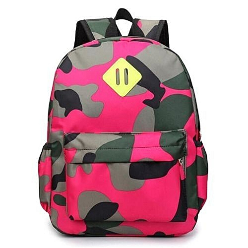 10693a9ec7 Generic New Korean Students Cute Children s School Bags Nursery Fashion  Rivet Camouflage Backpack Boys And Girls(Pink)