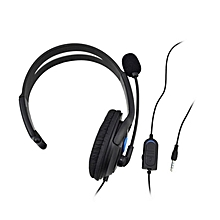 USB Essential Surround Sound Gaming Headset for PC/Mac/PS4/PS3 (Black/Blue) JY-M
