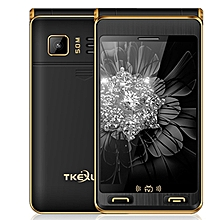 TKEXUN G10 Plus Flip Phone, Dual Screen, 3.5 inch, 7500mAh Battery, MTK6253,  Support TV, FM, MP3, SOS, GSM(Black)