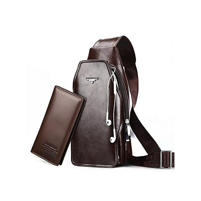 d7dba7d89 Fashion Leather Men Bag Leather Crossbody Bags Famous Brand Small Men's  Messenger ...