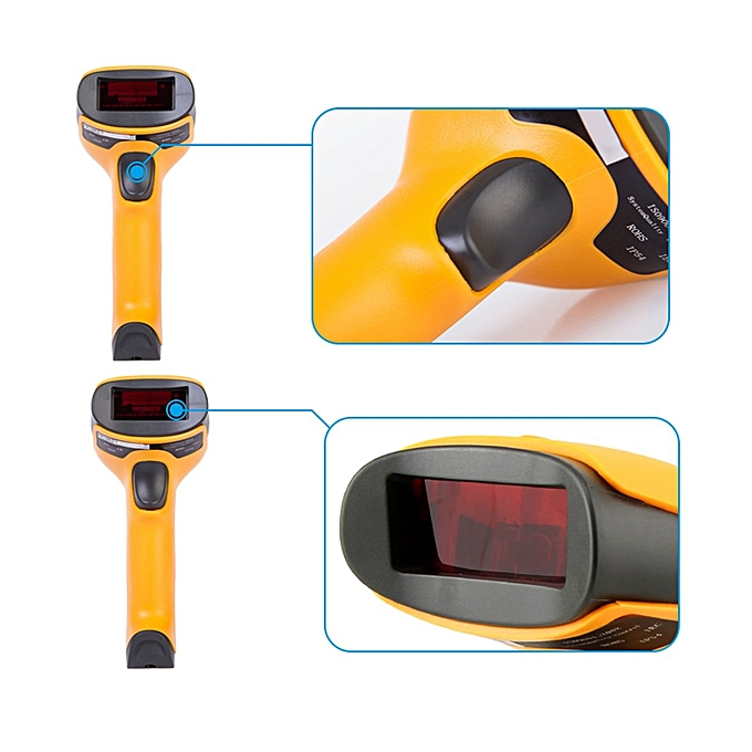 GB NT-2028 Wireless/Wired Laser Barcode Scanner USB Bar Code Scan  Reader-yellow