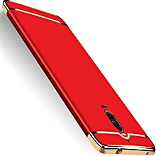 """For Huawei Mate9pro  5.5"""" Inch Hard PC + Acrylic Luxury 3 In 1 Combo Anti-knock Armor Back Case Cover (Red)(Red)(OVERSEAS)"""