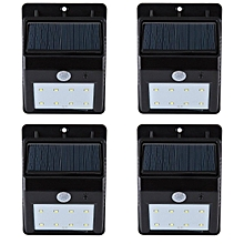 Solar Lights, Super Bright 8 LED Solar Powered Waterproof Wireless Security Bright Light for Garden, Deck, Driveway, Stairs Auto On / Off -No Tools Required (4 Pack)