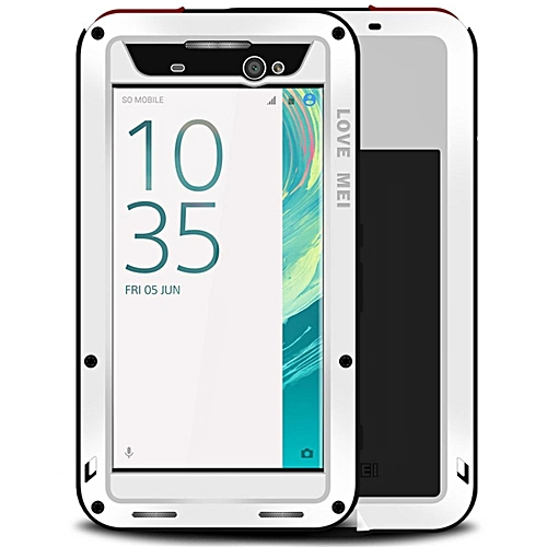 brand new f36fa ca831 Love Mei Water Resistant Shockproof Aluminum Metal Case Fully Body  Protection With Gorilla Glass Screen Protector For SONY Xperia XA Ultra  (Color:c4)