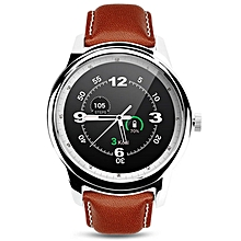 DM365 Bluetooth 4.0 Smart Watch MT2502A 360*360 IPS Full View & Leather Strap Pedometer Sleep Monitor For IOS & Android - Intl (Color:c2)