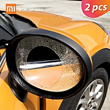 2pcs  Guildford Car Rearview Mirror Protective Film Waterproof Anti Fog Rainproof Transparent Membrane Sticker