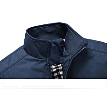 Nice Men's Casual Jacket Coat Men's Fashion Winter Long Sleeve Jacket Slim Fit Stand Collar-blue