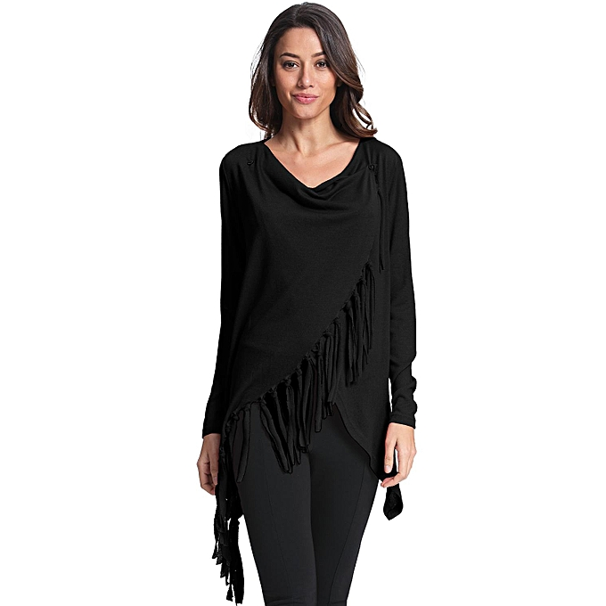 05d3c7a6e2288 ZANZEA Women Blouses Shirts Autumn Casual Long Sleeve Asymmetrical Vintage  Tassels Cardigan Blusas Plus Size Outwear