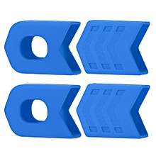 4Pcs Crank Protective Sleeves Bicycle Crankset Protector MTB Road Bicycle Cycling Crankset Crank Protective Sleeve Cover