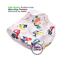 Infant Reusable Washable Adjustable cloth Diapers CAR cartoon with 2 inserts