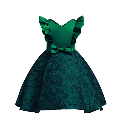 e47af8c7524 Generic New Girl Jacquard Princess Skirt For 2 To 9 Year Old (Green ...
