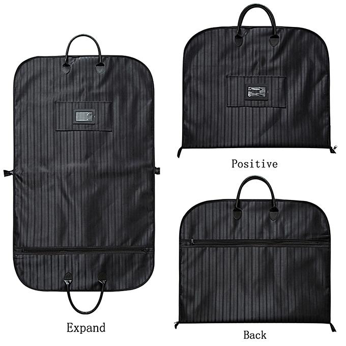6d46a4eab853 2018 Waterproof Folding Suit Bag Men Clothes Cover Black Oxford Garment  Bags With Handle Business Men Travel Bags For Suits 232(Black)