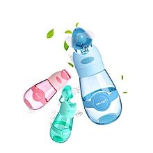 KCASA 400ML Fan Cup Portable Water Bottle With Mini USB Fan Handy BPA-Free Heat-Resisting