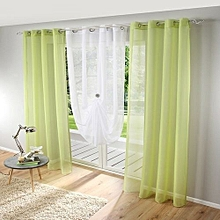 Honana 1x2m Pure Colorful Tulle Curtain Panel Window Balcony Room Divider Sheer Curtain Home Decor