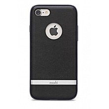 Napa Vegan Leather Case for iPhone 7-Charcoal Black