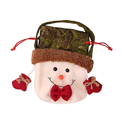 Allwin Nonwoven Fabric Children Kids Halloween Cartoon Drawstring Candy Gift Bag White Best Price