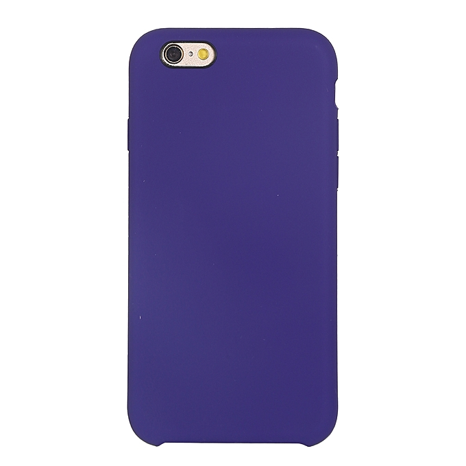 best website 43960 39e36 Pure Color Liquid Silicone + PC Protective Back Cover Case for iPhone 6 &  6s(Dark Purple)