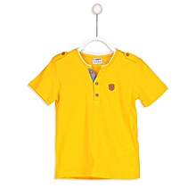 Yellow Fashionable Solid Regular T-Shirt