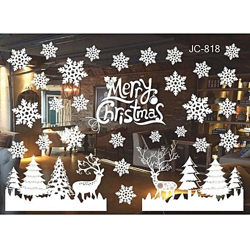 Generic diy home window glass christmas xmas sticker wall for Diy hotel decor
