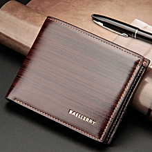 Fovibery Mens Fashion Leather ID Card Holder Billfold Purse Wallet Handbag