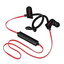 Winksoar Bluetooth Headset Waterproof Sports Stereo Headphone For Iphone Samsung Xiaomi LG Red