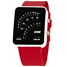 Watch Famous Brand LED Digital Waterproof Shock Resistant Auto Date Sport Women Men Wristwatches(Red)