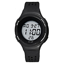 Superthin Design Multi-Functions Swimming Waterproof Digital Sport Wrist Watch(Black)
