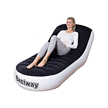 Chaise Inflatable Air Sofa Bed Lounge Air Chair - Black