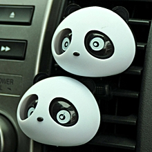 NEW 2 x Panda Cute Car Perfume Air Freshener Auto  Accessory Black For Car
