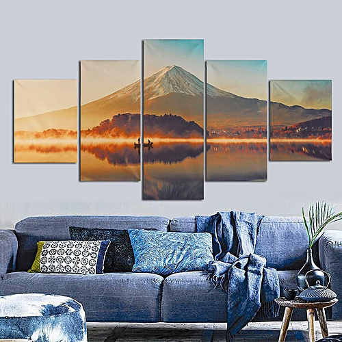 51e741aee Generic 5Pcs Paintings Wall Picture Artistic Painting Scenery Home Decor No  Frame