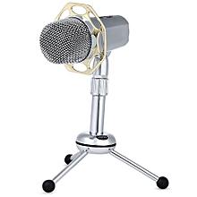 Y10B Desktop Wired Super-cardiode Condenser Microphone-SILVER