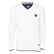 White Men's Woolen Sweater