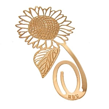 Sunflower Gloden Metal Reading Bookmark Bookmarker Book Mark Label Student Gift
