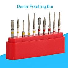 10pcs Dental High Speed Bur Diamond Polishing Tooth Preparation Bur Dental Equipment