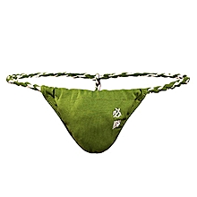 Sexy Pouch Embroidery Sumo Thong Cotton Underwear for Men
